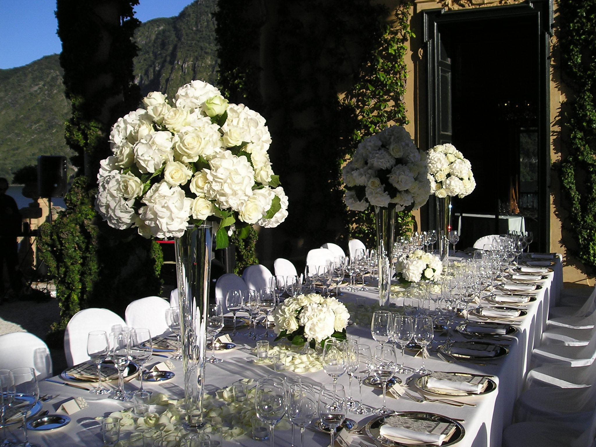 Vaso vetro alto ortensie pirovano mario fiori for Ortensie in vaso